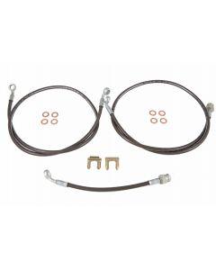 Stainless Steel Braided Hose - Brake - GL1500 - 3 Hose Kit