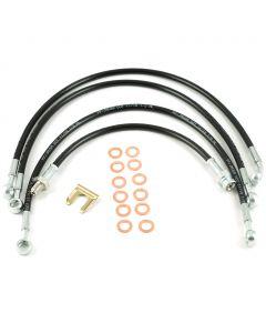 Stainless Steel Braided Hose Brake 4 Hose Kit