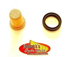 this filter is exclusive to randakk's cycle shakk  includes rubber sizing  band to mate with oem honda bracket